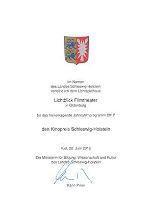 Kinopreis Schleswig-Holstein 2017