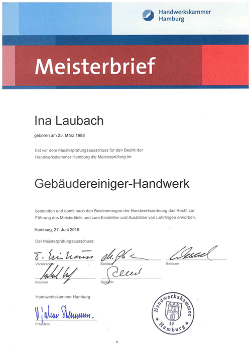 Meisterbrief Laubach